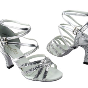 5008 Silver Sparkle & Silver Leather