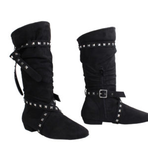 Lana Black Microfiber Dancing Boot